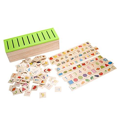 KESOTO Caja De Juguetes De Clasificación De Madera Montessori Patrón De Niños...