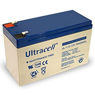 UL7–12 Ultracell Lead Battery 12 Volt 7 AH Faston 187, 4.8 with MM