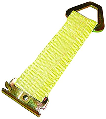 S-Line XH8021-10PB 7-Inch E-Track Tie-Off Strap with Stamped D-Ring, 1,000-Pounds Working Load