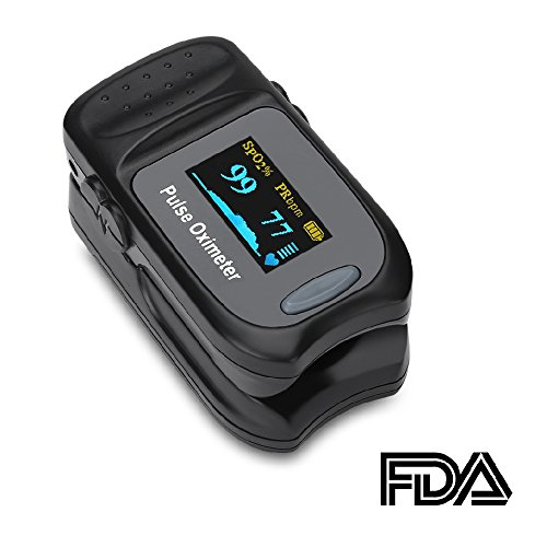 ACCEWIT Pulsossimetro Saturimetro da Dito Portatile Professionale, Display OLED per Frequenza Del Polso(PR) e La Saturazione di Ossigeno(Spo2) Misure
