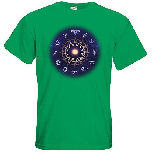 getshirts - Das Schwarze Auge - T-Shirt - Götter - Zwölfgötterkreis AGW Kelly Green
