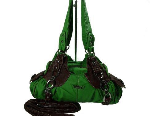 LISAN V&C H932-5 kleine mini Handtasche, Tasche in 7 Farben 26x18x10 Grün Braun