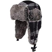 Engrosado Más Velvet Flying Caps Para hombres y mujeres Gorra exterior  Unisex Invierno de punto Ruso 2d29dab62ff