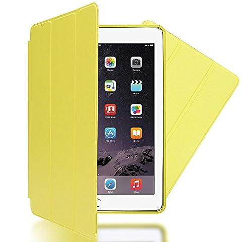nica Etui Coque Apple iPad Air 2 Tablette Protection Case Slim Durable Cover - Fonction Veille / Allumage Automatique - Jaune