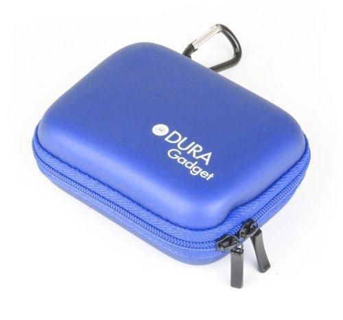 Housse étui rigide en bleu + passant de ceinture pour montre connectée MyKronoz Zenano, Zewatch, ZeFit Bracelet, Asus VivoWatch, Pebble Time, TomTom Runner; 2 et Touch - DURAGADGET