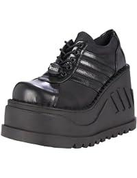 Demonia Stomp-08, Chaussures à Lacets Femme
