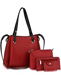 11a190da6451 Women 4 Pieces Handbag Set Ladies Medium New Tote Bag Messenger Satchel  Wrislet And Wallet Purse