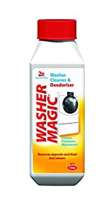 Washing Machine Cleaner & Deodoriser. Washer Magic removes deposits and their bad odours and optimises performance. For up to 3 uses.