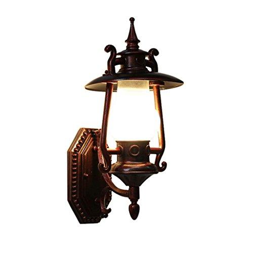 GKJ Lampe murale rétro, lumières murales créatives Pare-chaises extérieures pour patio Balcon Shop Lampe à pétrole à vapeur Lanterne à l'épreuve de l'extérieur avec pare-chocs Simple tête E27, 44 * 27.5CM ( taille : 44*20.7cm )