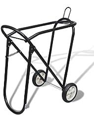 Chariot porte selle pliable métal avec roues