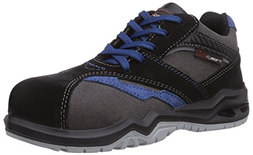 MTS M-Soft Cesna S3 Flex 45817, Unisex-Erwachsene Sicherheitsschuhe Grau (grau/schwarz/blau)