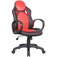 Amazon.es: sillas oficinas rojas - SixBros.