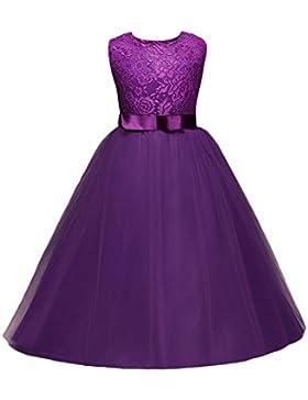 MYQyiyi Chica Niña Princesa Vestido de Fiesta Boda Bautismo