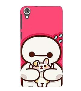 EPICCASE Cute Teddy cover Mobile Back Case Cover For HTC Desire 820 (Designer Case)