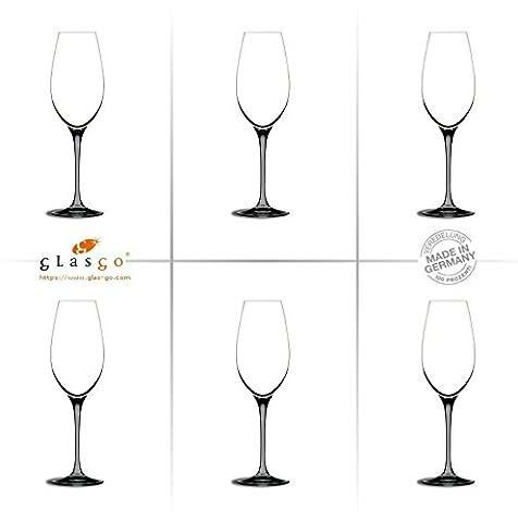 GlasGo Design Champagnerglas, Sektglas, Sektkelch, 6er Set Gläser, hochwertig, edel, Farbe, farbig, bunt, stilvolle Impressionen, tolles Ambiente