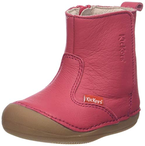 Kickers Unisex Baby SOCOOL Hausschuhe, Rose (Magenta Rouge Garance 213) 23 EU