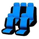 Filmer 37253 Autositzbezüge-Set, 11tlg, blau-schwarz