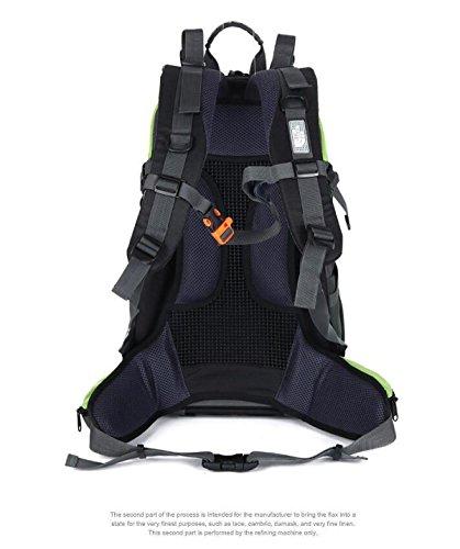 Yueer Outdoor Spalle Nylon Alpinismo Sport Uomini E Donne Casual Escursioni A Piedi In Viaggio Zaino Con La Copertura Della Pioggia 40L,E C
