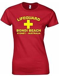 Bang Tidy Clothing T-shirt pour Femmes Morif 'Lifeguard Bondi Beach Sydney Australia'