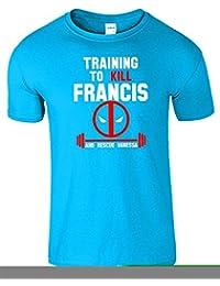 Training To Kill Francis Herren T-Shirt Deadpool Gym-Spitze T