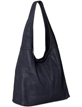 CASPAR Damen Handtasche / Schultertasche / Shopper / aus weichem NAPPA LEDER - viele Farben - TL610