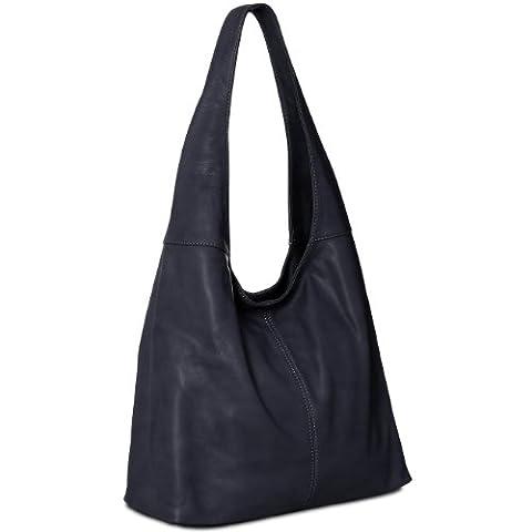 CASPAR Damen Handtasche / Schultertasche / Shopper / aus weichem NAPPA LEDER - viele Farben - TL610,