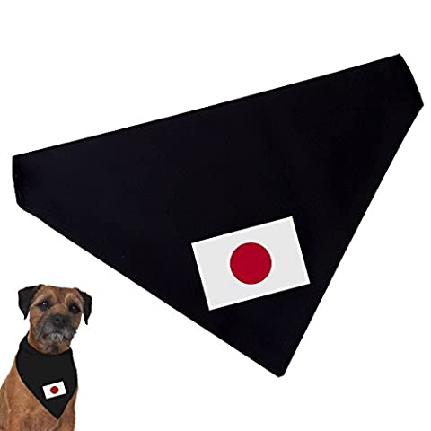 Flag of Japan Pet Bandana (for dogs and cats), regular size 20cm x 13cm, for collars up to 3cm