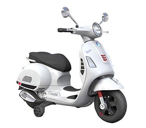 B70592 Moto eléctrica PIAGGIO para niños VESPA GTS con ruedas LED 12V - Blanco