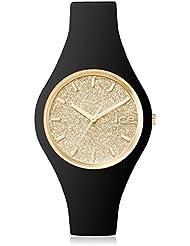 ICE-Watch - 001635 - Glitter - Montre Femme - Quartz Analogique - Cadran Doré - Bracelet Silicone Noir