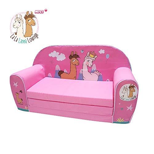 Knorrtoys La-La-Lama Lounge sofá para niños Rosa - Sofás para niños (Rosa, Algodón, Espuma, Imagen, 30 kg, Lavado de Manos)