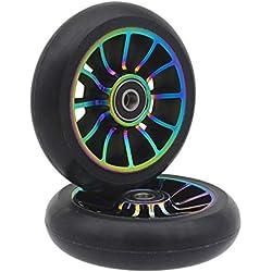 2 ruedas de repuesto 100 mm