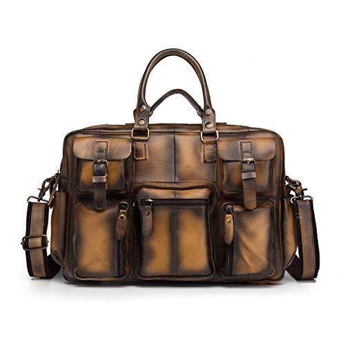 Yuany 7,9 Zoll Tablet-Tasche, Business Travel Office Tasche Aktentasche für Männer Frauen, wasserdichte Tragetasche Schulter Messenger Bag, erweiterbare Computer-Tasche für Notebook -
