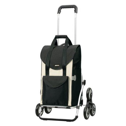 Andersen Einkaufstrolley Royal Treppensteiger und Einkaufstasche Senta weiß 49 Liter - Roller Roller Royal Räder Für