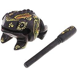 MagiDeal Feng Shui Tradicional Rana Tailandesa Artesanía Afortunada Ranas de Madera Decoración del Hogar - 3