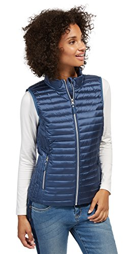 TOM TAILOR Damen Outside Weste Lightweight Vest, Blau (Ensign Blue 6865), X-Small