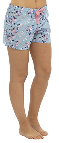 Womens Ladies Pyjama Shorts Lounge Pants PJ Bottom Nightwear Summer Check Floral Size UK 10-18 - 41oxD5LxYFL - Womens Ladies Pyjama Shorts Lounge Pants PJ Bottom Nightwear Summer Check Floral Size UK 10-18
