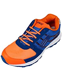BNG Synthetic Leather Sports Shoes blue&orange (ES-14)