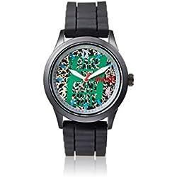Steve Aoki Men's SA 2004 BK Steve Aoki Analog Display Japanese Quartz Black Watch