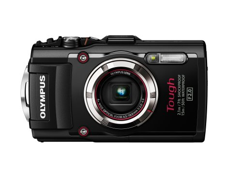 "Olympus TG-3 Tough - Cámara compacta acuática de 16 Mp (pantalla de 3"", zoom óptico 4x, estabilizador digital, vídeo Full HD, WiFi, GPS), negro"