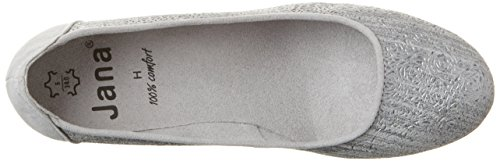 Jana 22304, Escarpins Femme Gris (Grey/silver 212)