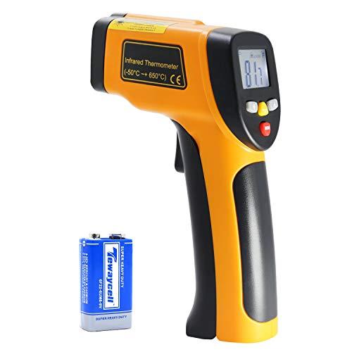 Laser termometro a infrarossi, senza contatto mini termometro a infrarossi temperatura pistola con ampia gamma di temperatura: -50a 650°C fino a + 650°C), hti-xintai