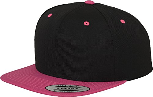 Flexfit Classic Snapback 2-Tone Kappe, Mehrfarbig, one size Black/Neonpink
