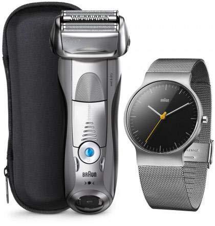 Braun Series 7 - 7893s Rasierer wet & dry silber + Braun Slim Watch Armbanduhr