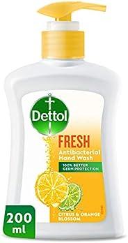 Dettol Fresh Anti-Bacterial Liquid Hand Wash 200ml - Citrus & Orange Blo