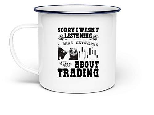 Jimbeels Forex, CFDs, Futures & Kryptowährungen Tasse | Cooler Spruch auf Kaffeetasse für Daytrader & Forexhändler | 300 ml Kaffeebecher Emailletasse 300 ml