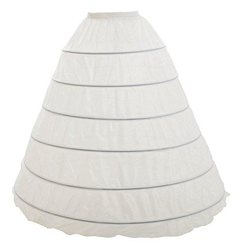 e 6-Reifen Hochzeit Petticoat Band Rock (Plus Größe Renaissance Kostüme Für Frauen)