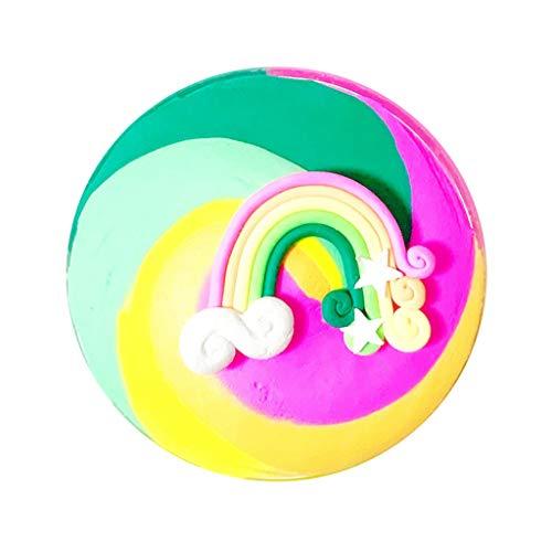Wunderschönen Farbe Butter Schleim Regenbogen Geburtstag Kuchen Schleim Kinder Linderung Stressspielzeug