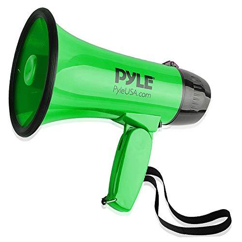 (Megafon Lautsprecher von Pyle 30 Watt, Megafon mit Sirene, Lautstärke einstellbar, verfügt über eine Reichweite von 750 Metern - Ideal für Fußball, Handball, Basketball und Rugby, für Fans und Trainer)