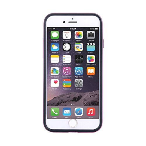 Phone case & Hülle Für iPhone 6 / 6s, Shockproof TPU + PC Schutzhülle mit Halter ( Color : Rose gold ) Pink