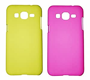 Winsome Deal 2 Pieces of Exclusive Quality Hard Back Cover Case For Samsung Galaxy ON7